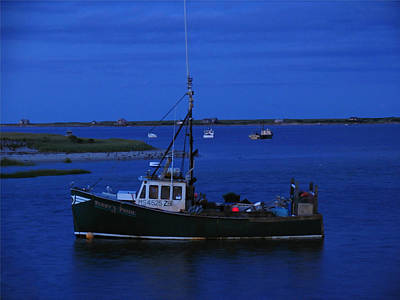 Photograph - Chatham Pier Fisherman Boat  by Juergen Roth