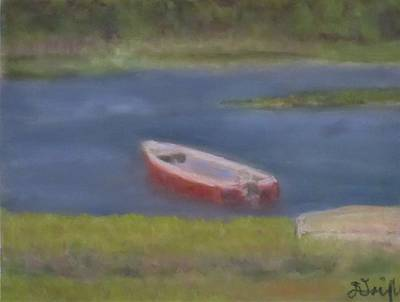 Chatham Harbor Painting - Chatham Red Dingy by Dianne Quigley