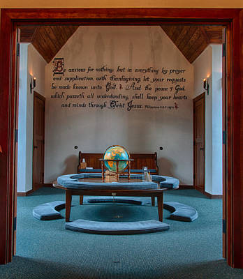 Photograph - Chatlos Memorial Chapel Prayer Loft by Gene Sherrill
