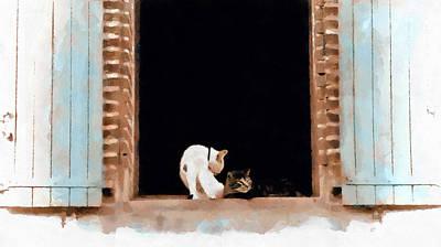 Painting - Chats A Albi by Menega Sabidussi