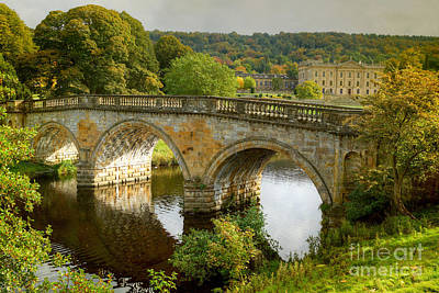 Photograph - Chatsworth House And Bridge by David Birchall