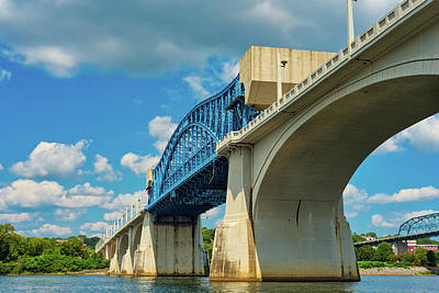 Farmhouse Royalty Free Images - Chattanooga bridge Royalty-Free Image by Kenneth Sponsler
