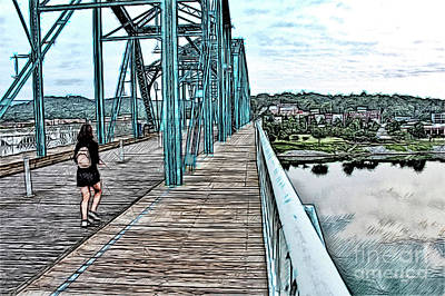 Chattanooga Footbridge Art Print