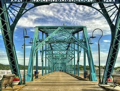 Photograph - Chattanooga Heart Medicine Walnut Street Pedestrian Bridge Art  by Reid Callaway