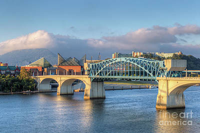 Photograph - Chattanooga Market Street Bridge IIi by Clarence Holmes