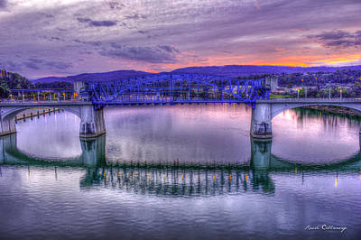 Photograph - Chattanooga Reflections John Ross Bridge Historic Bridge by Reid Callaway