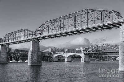Photograph - Chattanooga Tennessee River Bridges II by Clarence Holmes