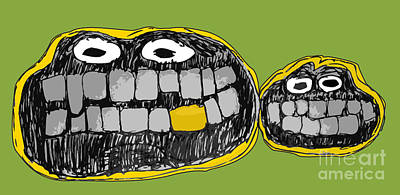 Drawing - Chatter Teeth by Ray Hunt