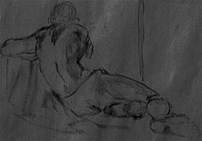 Male Nude Drawing Drawing - Chatto IIi by Chris  Riley