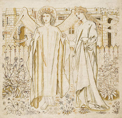 Amor Drawing - Chaucers Legend Of Good Women Amor And Alcestis  by Edward Burne-Jones