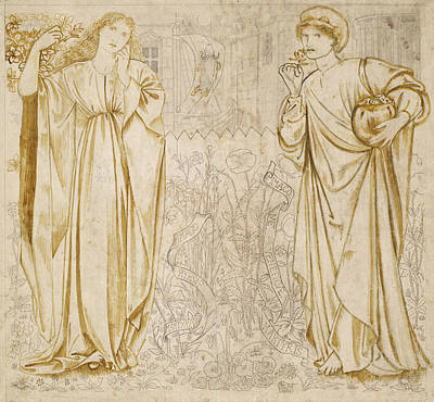 Pre-raphaelite Drawing - Chaucer's Legend Of Good Women Hypsiphile And Medea by Edward Burne-Jones