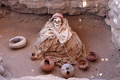 Photograph - Chauchilla Cemetery, Nazca, Peru by Aidan Moran