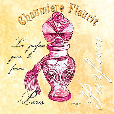 Bottle Painting - Chaumiere Fleurit by Debbie DeWitt
