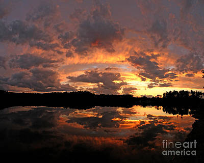 Jft Photograph - Chauncy Sunset 1 by James F Towne