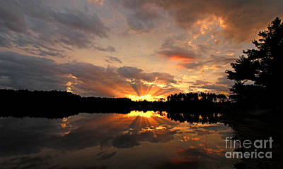 Jft Photograph - Chauncy Sunset 2 by James F Towne