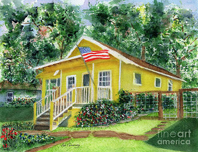 Chautauqua Cottage Art Print by Sue Carmony