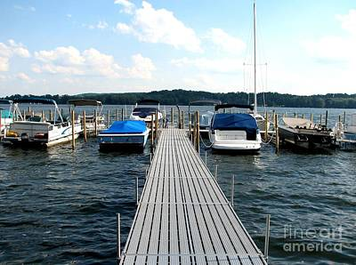 Photograph - Chautauqua Lake Boat Pier by Rose Santuci-Sofranko