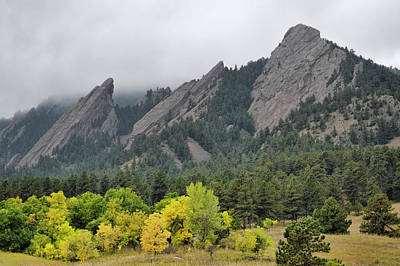 Photograph - Chautauqua Park Colorado Flat Irons by Ann Powell