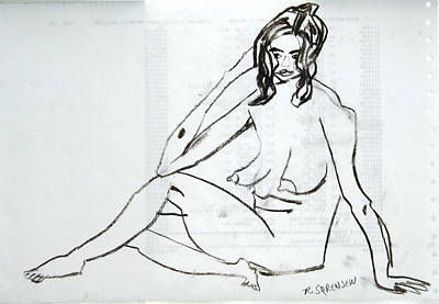 Painting - Chaville Croquis No. 15 by Robert SORENSEN