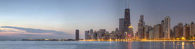 Chicago Skyline Photograph - Chciago Skyline At Dusk by Twenty Two North Photography