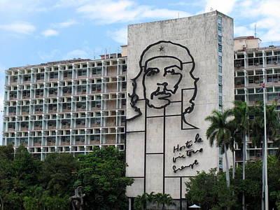 Che Guevara Building Art Print by Cindy Kellogg