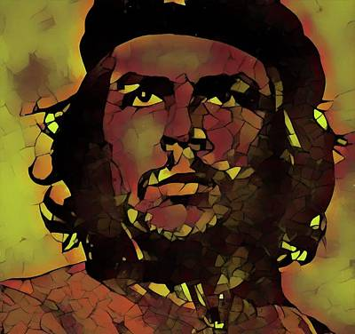 Author Mixed Media - Che by Dan Sproul