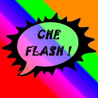 Che Flash Art Print