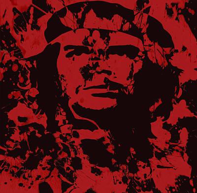 Socialism Mixed Media - Che Guevara  04b by Brian Reaves