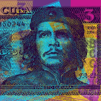Digital Art - Che Guevara Bank Note #2 by Jean luc Comperat