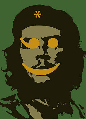 Counterculture Painting - Che Guevara Emoticomunist 1 by Tony Rubino