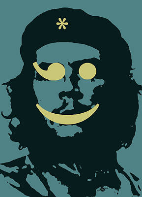 Counterculture Painting - Che Guevara Emoticomunist 2 by Tony Rubino