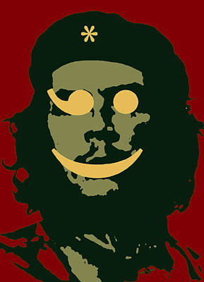 Counterculture Painting - Che Guevara Emoticomunist 3 by Tony Rubino