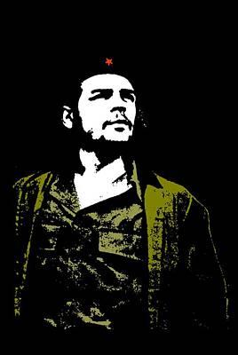Cuban Mixed Media - Che Guevara Large by Otis Porritt