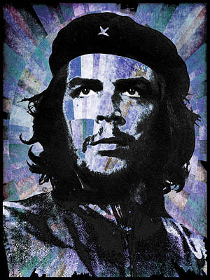 Che Guevara Revolution Blue Art Print