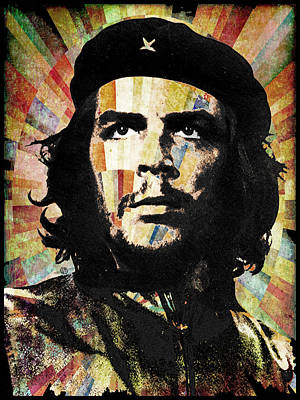 Che Guevara Revolution Gold Art Print