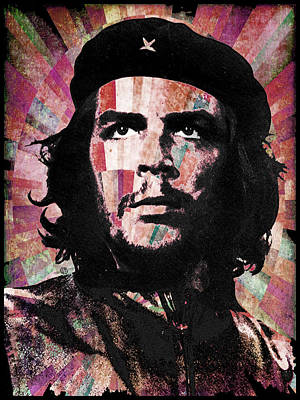 Counterculture Painting - Che Guevara Revolution Red by Tony Rubino