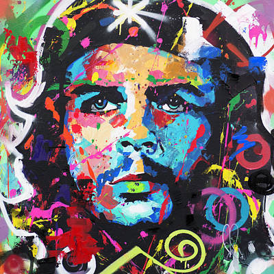 Painting - Che Guevara by Richard Day