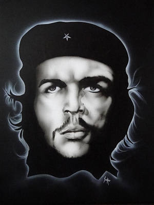 Painting - Che Guevara by Stephen Sookoo
