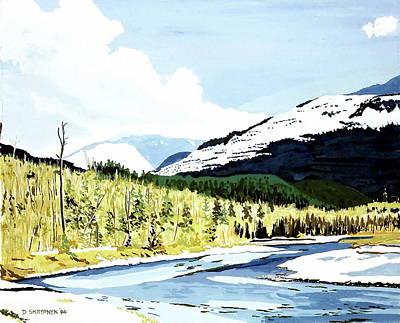Painting - Cheakamous River Near Whistler, Bc by David Skrypnyk
