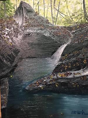 Painting - Cheat Lake Backwater by David Bartsch