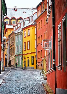 Cheb An Old-world-charm Czech Republic Town Print by Christine Till