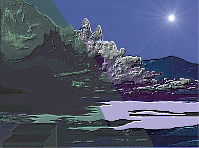 Digital Art - 1978 - Nowhere  by Irmgard Schoendorf Welch