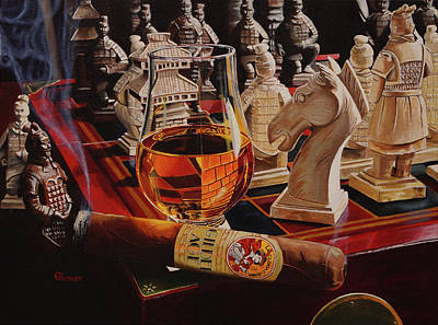 Chess Pieces Painting - Check Mate by Eric Renner