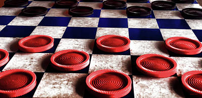 Photograph - Checker Board Art No.5 by Lesa Fine