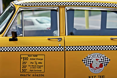 Photograph - Checker Cab 2 by Mark Alesse