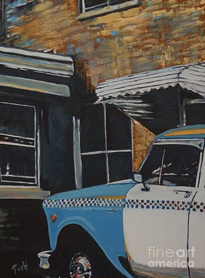 Painting - Checker Cab by Laura Toth