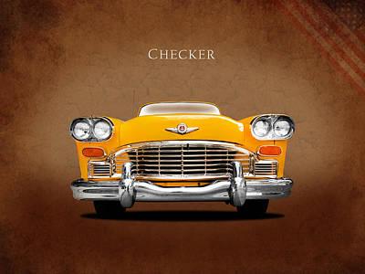 Checker Cab Photograph - Checker Cab by Mark Rogan