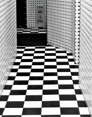 Photograph - Checkerboard 80's by Rob Hans