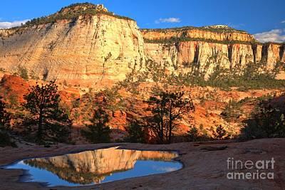 Photograph - Checkerboard Mesa Sunset by Adam Jewell