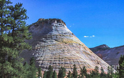 Digital Art - Checkerboard Mesa Zion Np Utah Usa by Liz Leyden